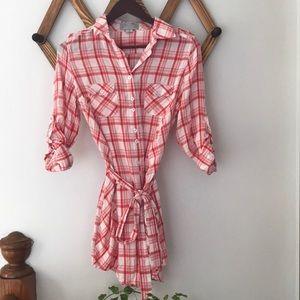 Solemio collared shirt dress